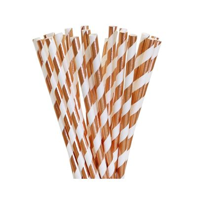 PartyDeco Paper Straws Gold