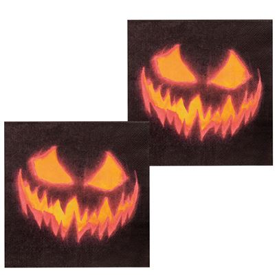 Creepy Pumpkin Napkins 12Pk
