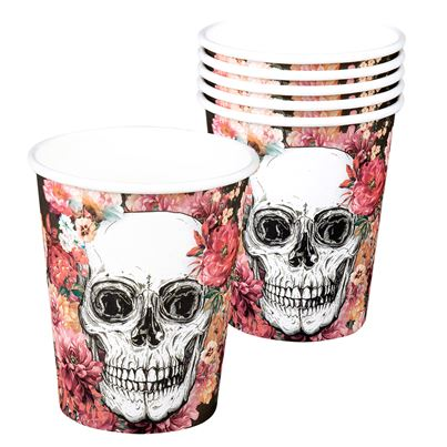 Day Of The Dead Cups 6pk