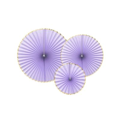 PartyDeco Light Lilac Hanging Rosettes