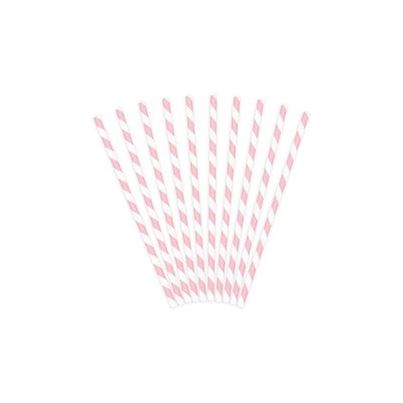 PartyDeco Paper Straws Light Pink