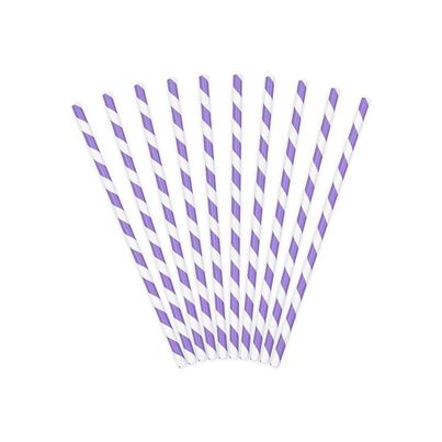 PartyDeco Paper Straws Lilac