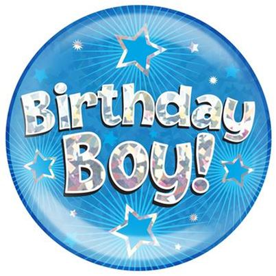 'Birthday Boy' Jumbo Badge