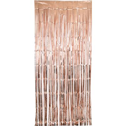 Oaktree Rose Gold Shimmer Curtain