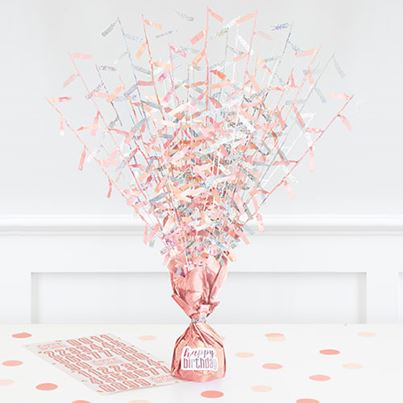 Unique Rose Gold Birthday Centrepiece