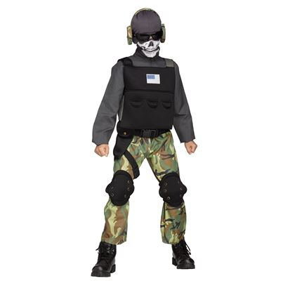 Skull Soldier Child Costume