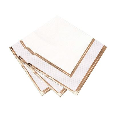 Porcelain Rose Gold Napkins 16pk